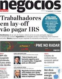 capa Jornal de Negócios de 30 março 2020