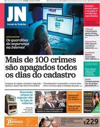 capa Jornal de Notícias de 1 março 2020
