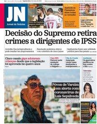 capa Jornal de Notícias de 2 março 2020