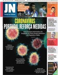 capa Jornal de Notícias de 3 março 2020