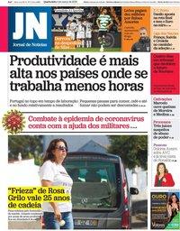 capa Jornal de Notícias de 4 março 2020