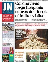 capa Jornal de Notícias de 6 março 2020