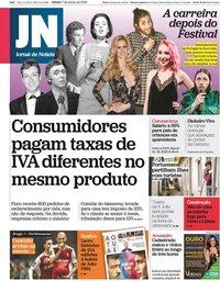 capa Jornal de Notícias de 7 março 2020