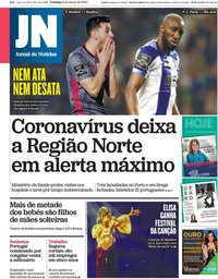 capa Jornal de Notícias de 8 março 2020