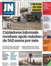 capa Jornal de Notícias de 10 março 2020