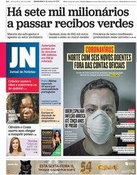 capa Jornal de Notícias de 11 março 2020
