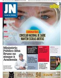 capa Jornal de Notícias de 12 março 2020
