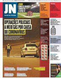 capa Jornal de Notícias de 14 março 2020