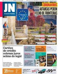capa Jornal de Notícias de 15 março 2020