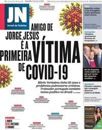 capa Jornal de Notícias de 17 março 2020