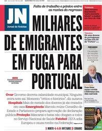 capa Jornal de Notícias de 18 março 2020