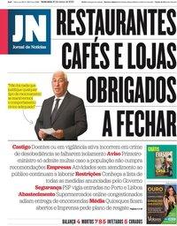 capa Jornal de Notícias de 20 março 2020
