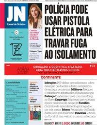 capa Jornal de Notícias de 21 março 2020