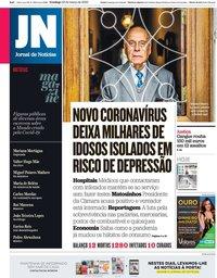 capa Jornal de Notícias de 22 março 2020
