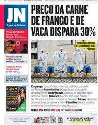 capa Jornal de Notícias de 24 março 2020