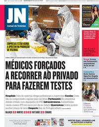 capa Jornal de Notícias de 25 março 2020