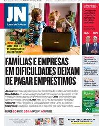 capa Jornal de Notícias de 27 março 2020