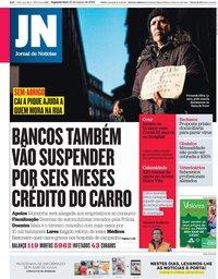 capa Jornal de Notícias de 30 março 2020
