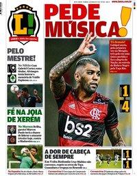 capa Jornal Lance! Rio de Janeiro de 1 março 2020