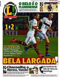 capa Jornal Lance! Rio de Janeiro de 5 março 2020