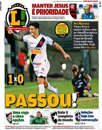 capa Jornal Lance! Rio de Janeiro de 6 março 2020