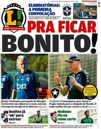 capa Jornal Lance! Rio de Janeiro de 7 março 2020
