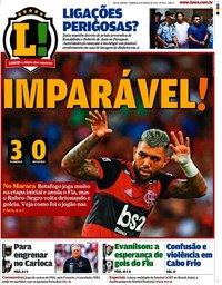 capa Jornal Lance! Rio de Janeiro de 8 março 2020