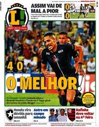 capa Jornal Lance! Rio de Janeiro de 9 março 2020