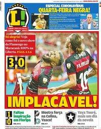 capa Jornal Lance! Rio de Janeiro de 12 março 2020