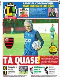 capa Jornal Lance! Rio de Janeiro de 13 março 2020