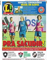capa Jornal Lance! Rio de Janeiro de 14 março 2020