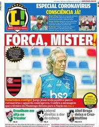 capa Jornal Lance! Rio de Janeiro de 17 março 2020
