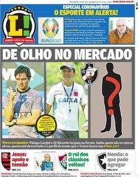 capa Jornal Lance! Rio de Janeiro de 18 março 2020