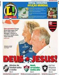 capa Jornal Lance! Rio de Janeiro de 20 março 2020