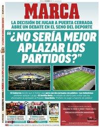 capa Jornal Marca de 11 março 2020