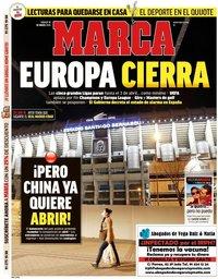 capa Jornal Marca de 14 março 2020