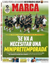 capa Jornal Marca de 21 março 2020