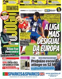 capa Jornal O Jogo de 1 março 2020