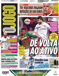 capa Jornal O Jogo de 2 março 2020