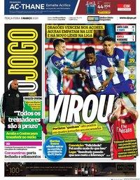 capa Jornal O Jogo de 3 março 2020