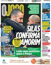capa Jornal O Jogo de 4 março 2020