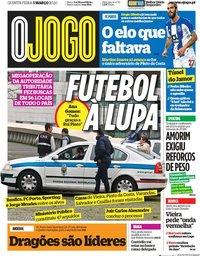 capa Jornal O Jogo de 5 março 2020