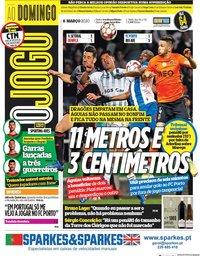 capa Jornal O Jogo de 8 março 2020
