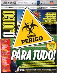 capa Jornal O Jogo de 13 março 2020