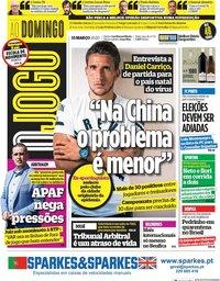 capa Jornal O Jogo de 15 março 2020
