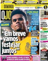 capa Jornal O Jogo de 22 março 2020