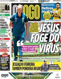 capa Jornal O Jogo de 23 março 2020