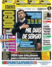 capa Jornal O Jogo de 29 março 2020