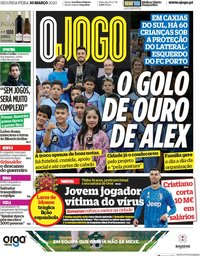 capa Jornal O Jogo de 30 março 2020