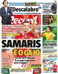 capa Jornal Record de 2 março 2020